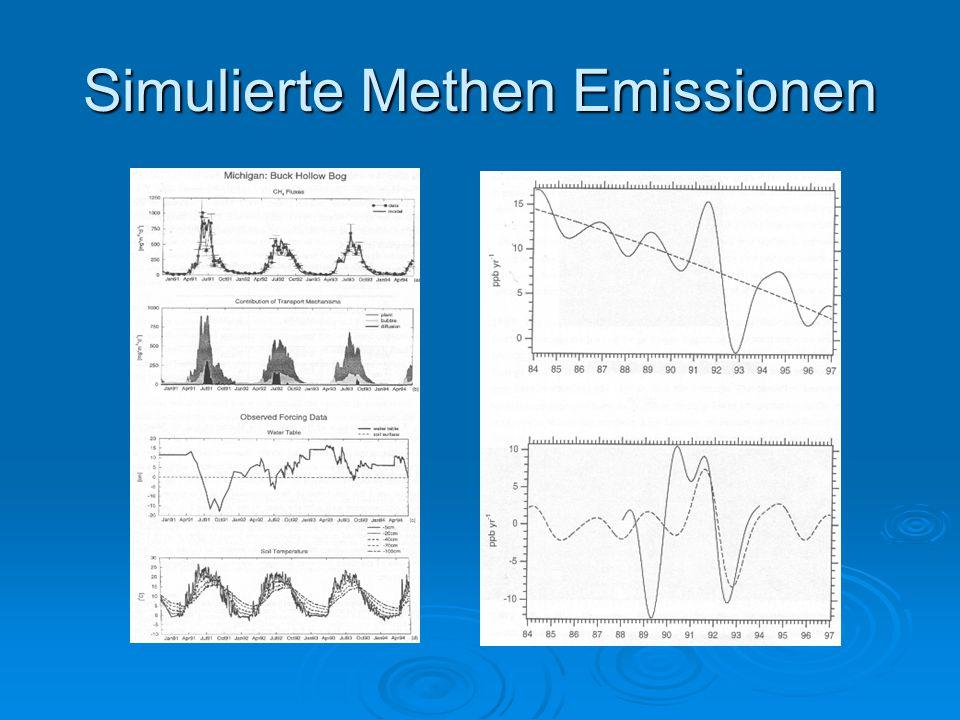 Simulierte Methen Emissionen