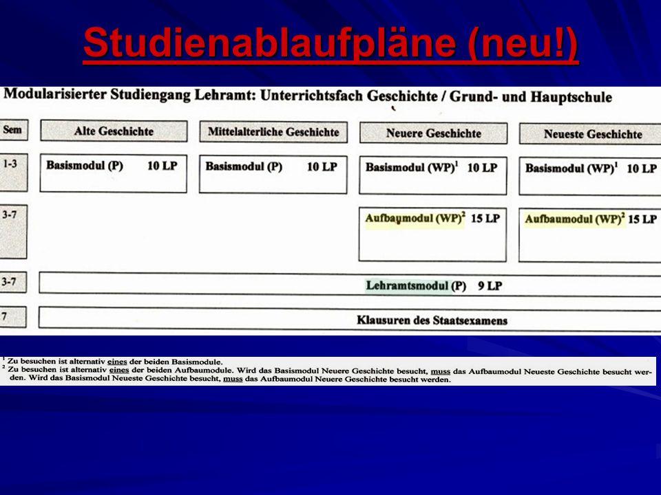 Studienablaufpläne (neu!)