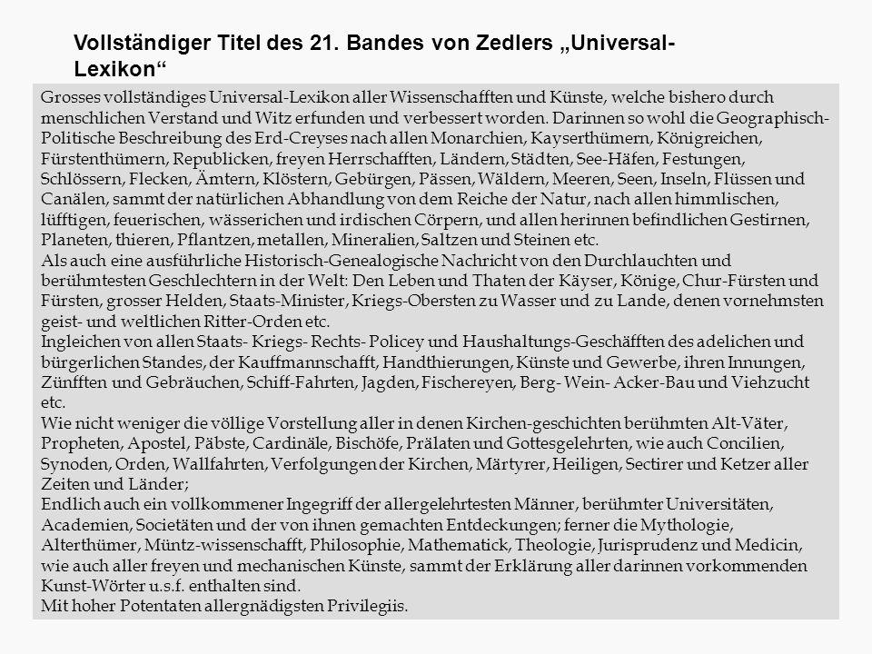 Grosses vollständiges Universal-Lexikon aller Wissenschafften und Künste, welche bishero durch menschlichen Verstand und Witz erfunden und verbessert