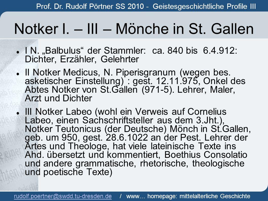 """""""Weggenossen Mitschüler Ratpert von St.Gallen: gest."""
