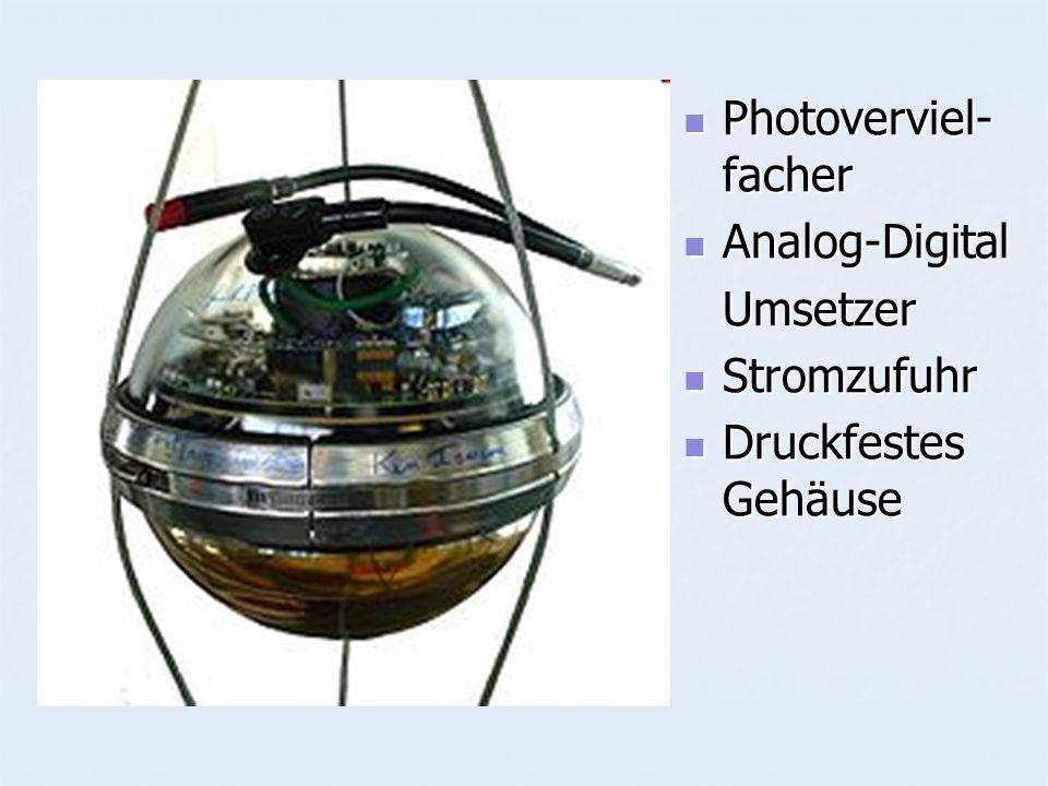 Photoverviel- facher Photoverviel- facher Analog-Digital Analog-DigitalUmsetzer Stromzufuhr Stromzufuhr Druckfestes Gehäuse Druckfestes Gehäuse