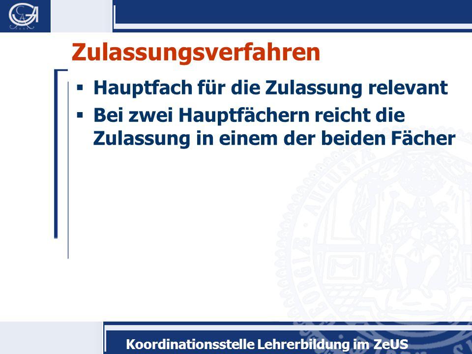 Koordinationsstelle Lehrerbildung im ZeUS  www.uni-goettingen.de/lehrerbildung  lehrerbildung@uni-goettingen.delehrerbildung@uni-goettingen.de  Tel.