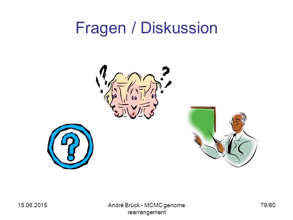 15.06.2015André Brück - MCMC genome rearrangement 79/80 Fragen / Diskussion