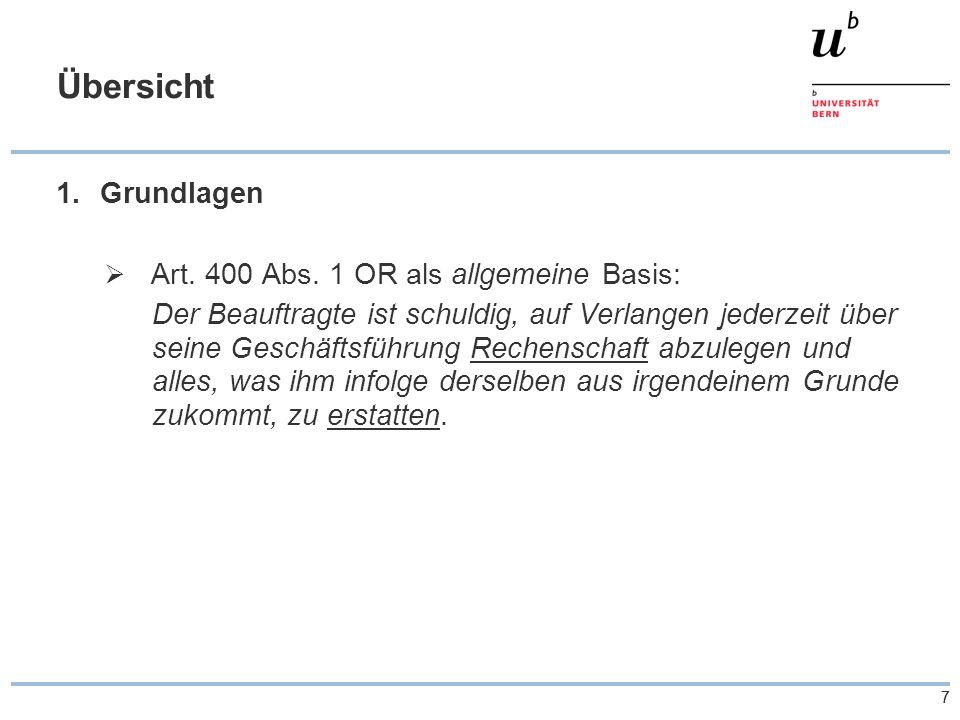 77 Übersicht 1.Grundlagen  Art. 400 Abs.