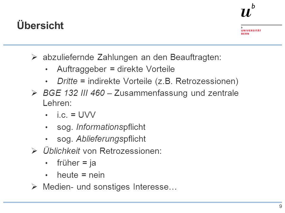 """10 Übersicht 2.Hintergründe für Retrozessionen  Negativimage nicht berechtigt: """"Retro + """"Zession , """"Kick backs etc."""