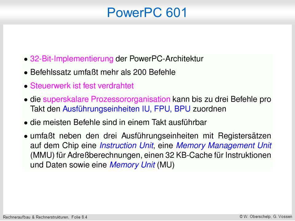 Rechneraufbau & Rechnerstrukturen, Folie 8.15 © W. Oberschelp, G. Vossen Assemblerprogrammierung