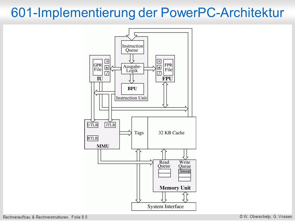 Rechneraufbau & Rechnerstrukturen, Folie 8.5 © W. Oberschelp, G. Vossen 601-Implementierung der PowerPC-Architektur