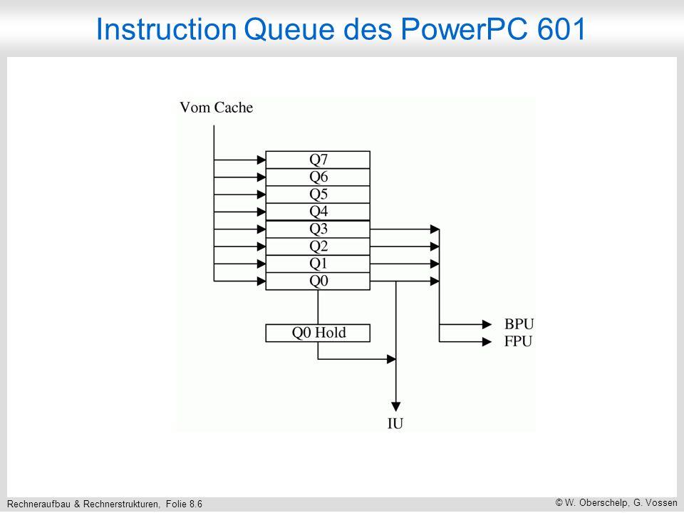 Rechneraufbau & Rechnerstrukturen, Folie 8.6 © W. Oberschelp, G. Vossen Instruction Queue des PowerPC 601