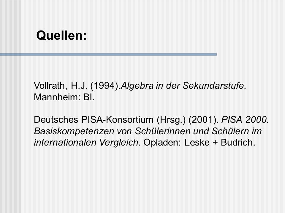 Vollrath, H.J.(1994).Algebra in der Sekundarstufe.