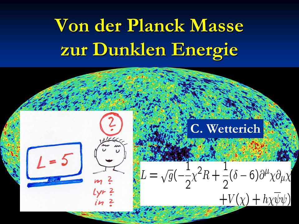 Zeitabhängigkeit der dunklen Energie Kosmologische Konstante : Ω h ~ t² ~ (1+z) -3 M.Doran,… w=p/ρ
