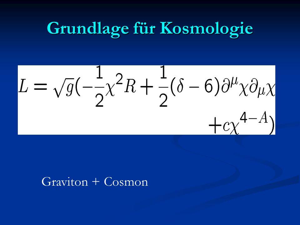 Grundlage für Kosmologie Graviton + Cosmon