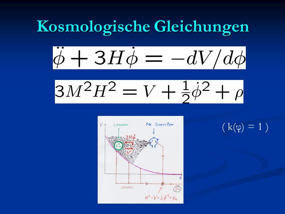 Kosmologische Gleichungen ( k(φ) = 1 )