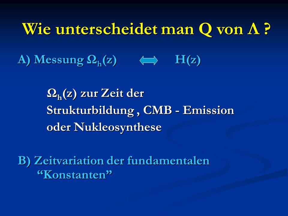Wie unterscheidet man Q von Λ .