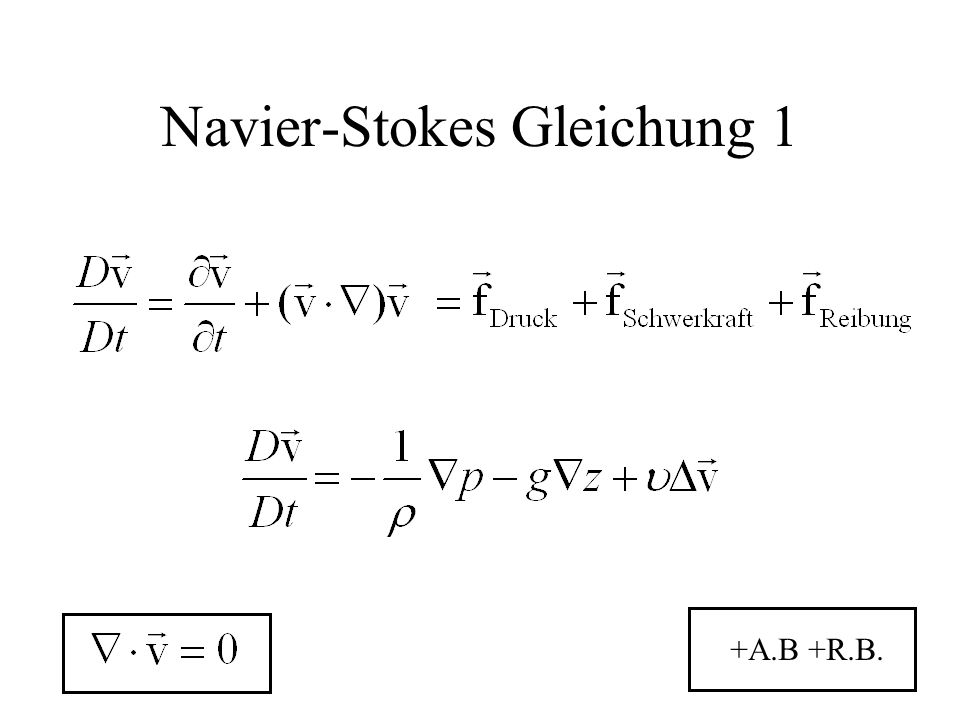 Navier-Stokes Gleichung 1 +A.B +R.B.