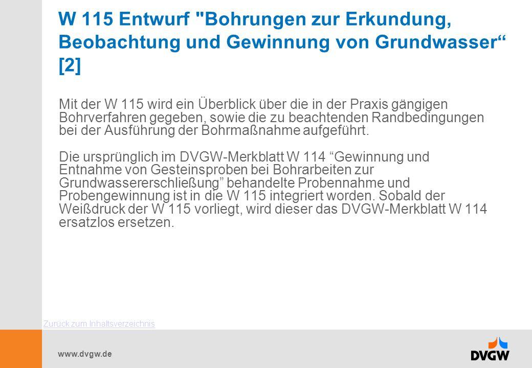 www.dvgw.de W 115 Entwurf