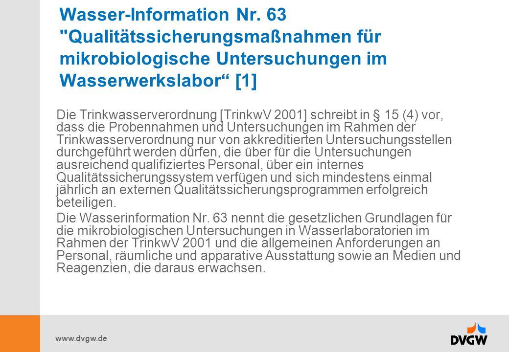 www.dvgw.de Wasser-Information Nr. 63