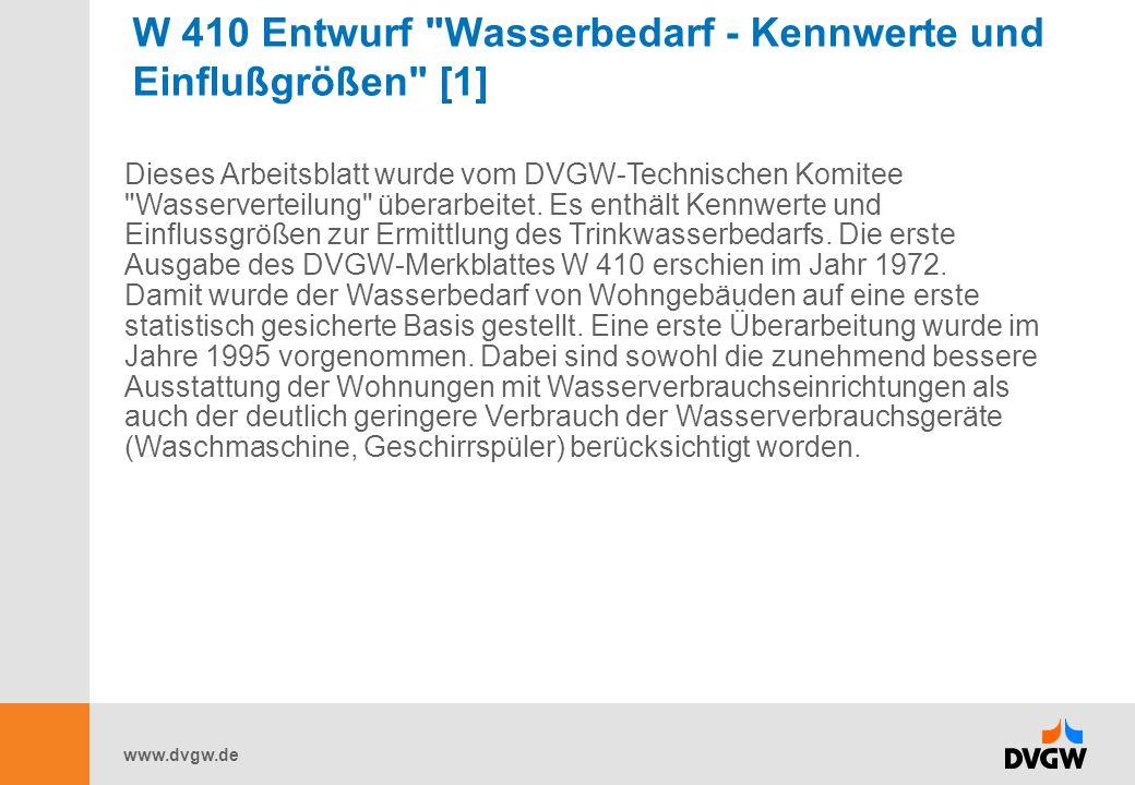 www.dvgw.de W 410 Entwurf