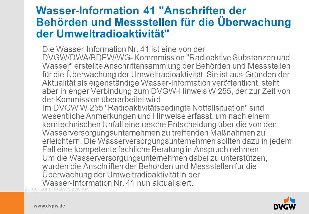 www.dvgw.de Wasser-Information 41