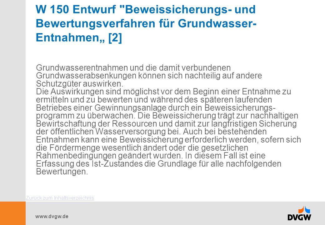 www.dvgw.de W 150 Entwurf