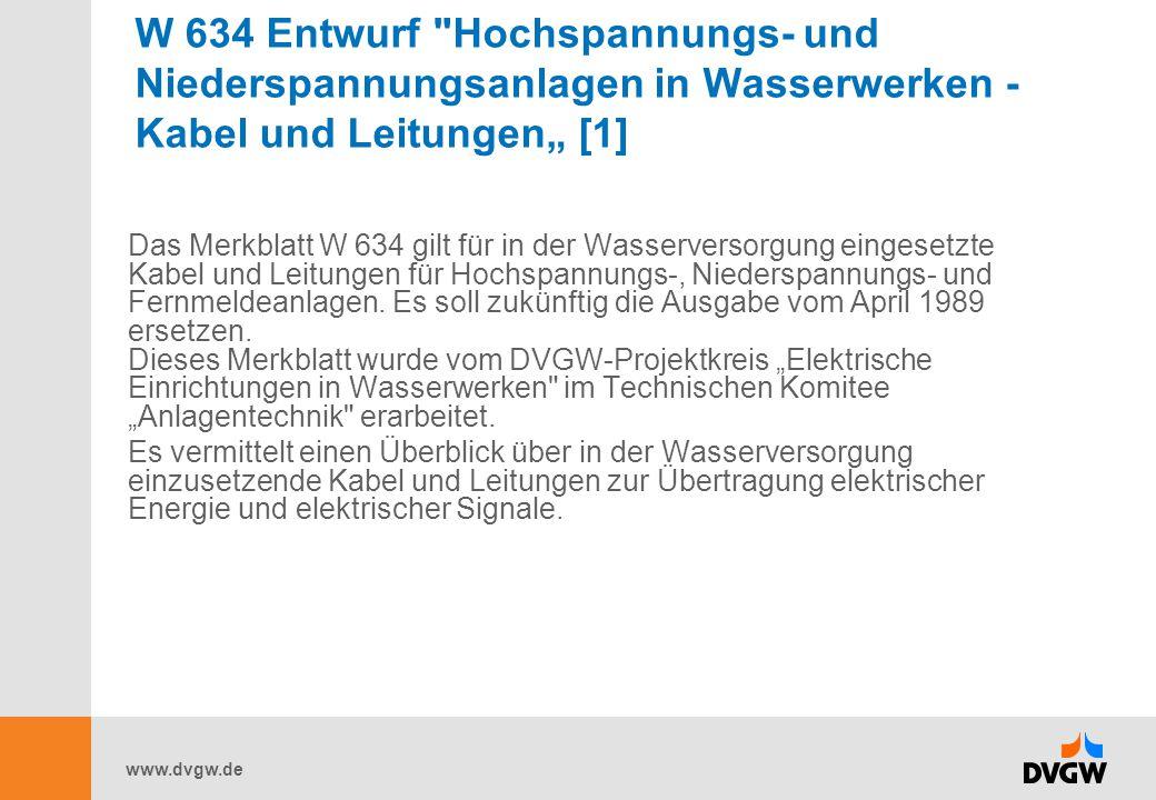 www.dvgw.de W 634 Entwurf