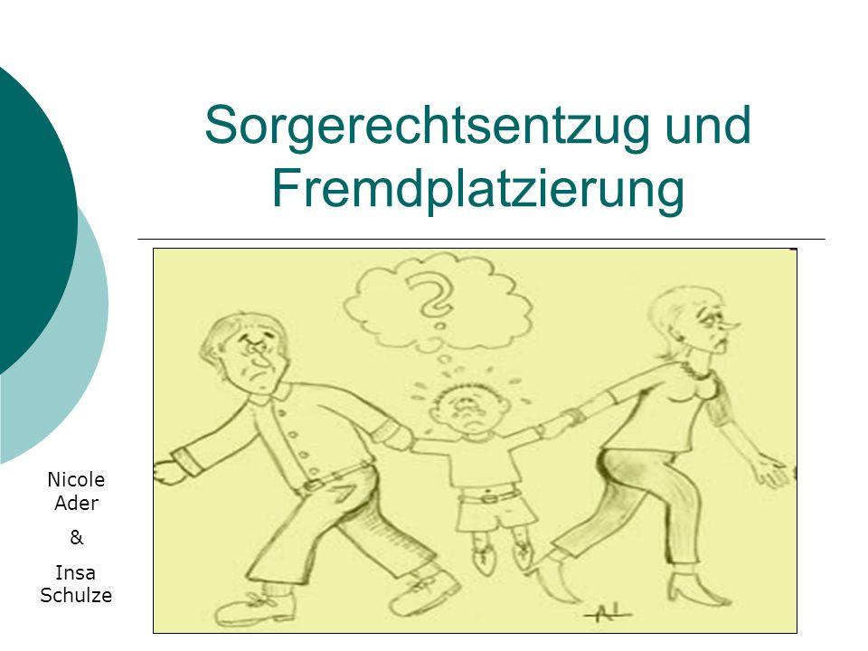 Sorgerechtsentzug und Fremdplatzierung Nicole Ader & Insa Schulze
