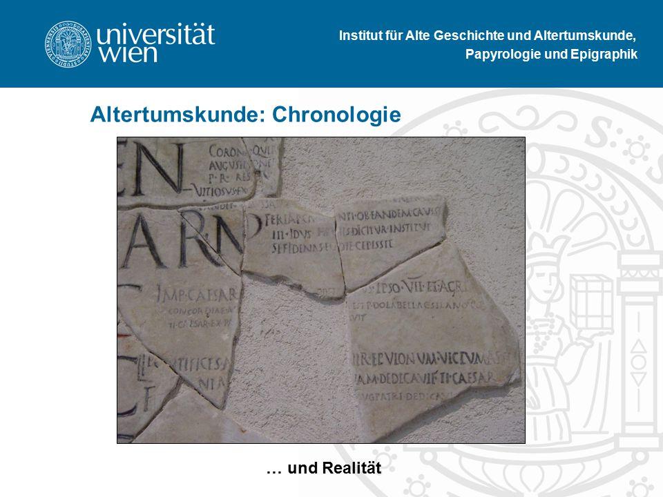 Institut für Alte Geschichte und Altertumskunde, Papyrologie und Epigraphik Altertumskunde: Chronologie Comic … … und Realität
