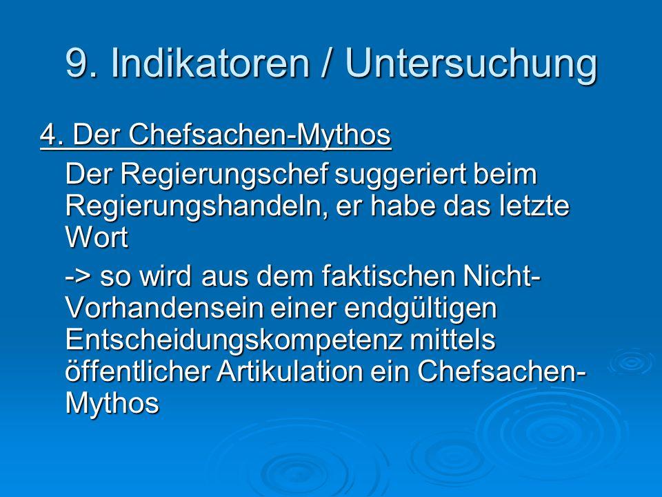 9. Indikatoren / Untersuchung 4.