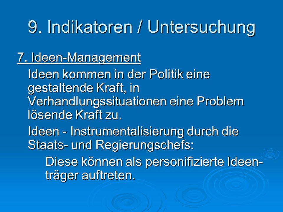 9. Indikatoren / Untersuchung 7.