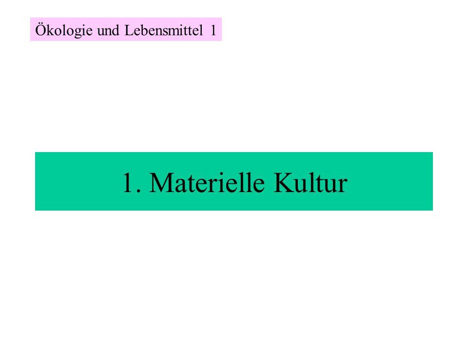 1. Materielle Kultur Ökologie und Lebensmittel 1