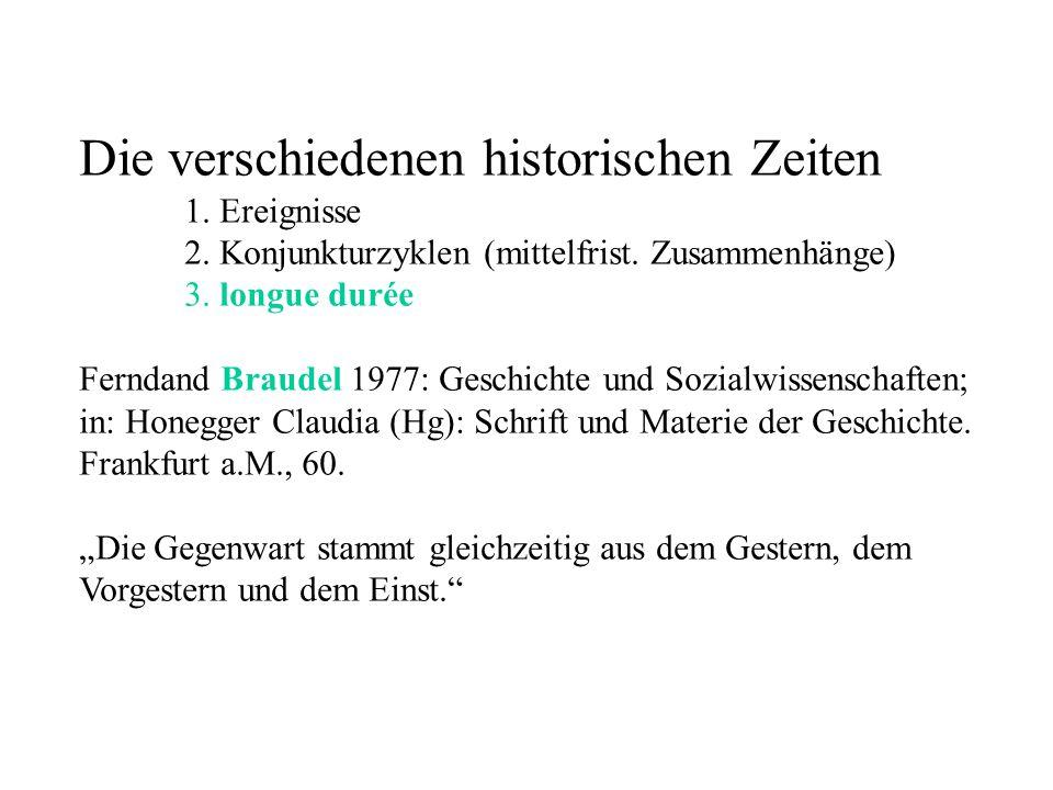 Die verschiedenen historischen Zeiten 1. Ereignisse 2.