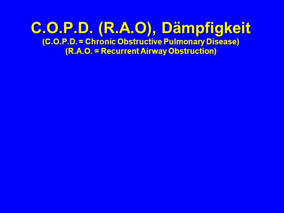 Schlechte Stalluft ist mitbeteiligt an COPD: - Ammoniak - Staub