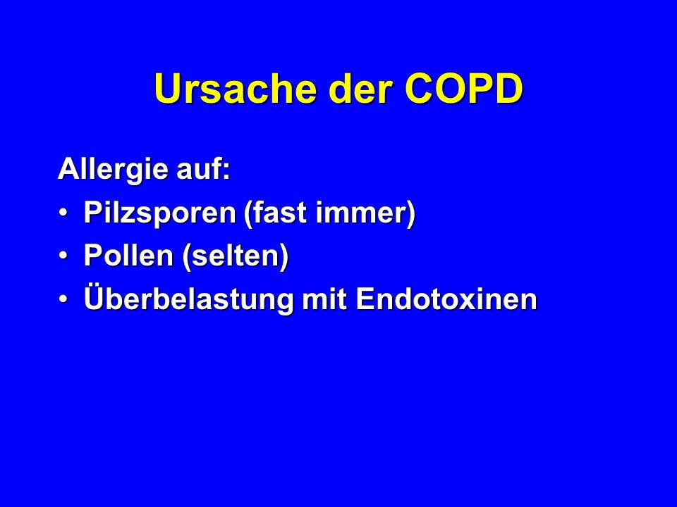 Erblichkeit der COPD Bei Nachwuchs –Gesunder Hengste: 5-30% –COPD Hengste: 30-65%