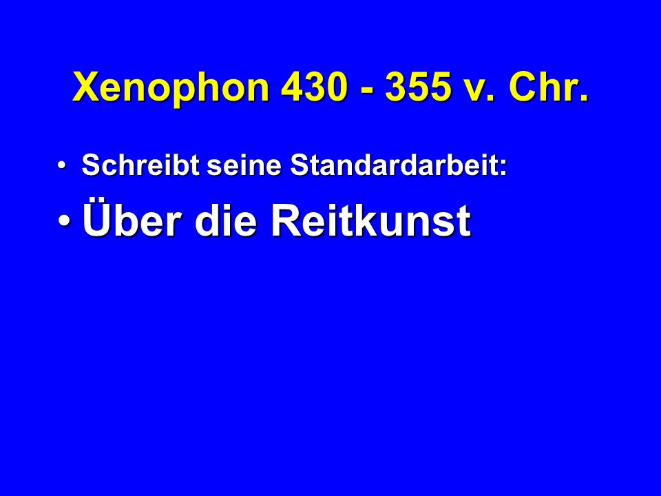 Xenophon 430 - 355 v.Chr.