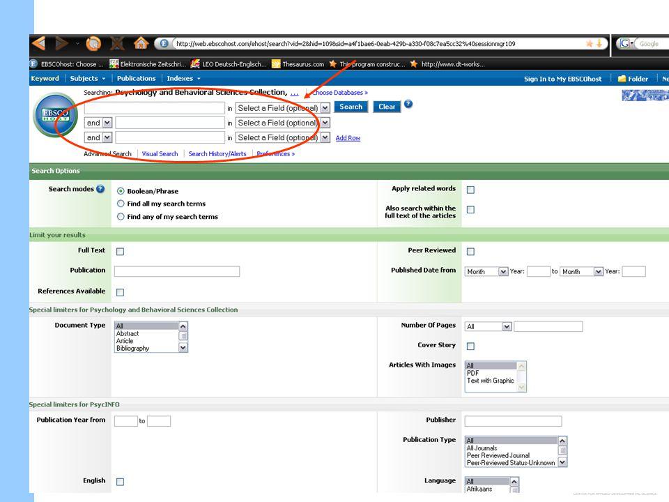 Einführung in die Literaturrecherche ACHTUNG: funktioniert nur von Computern der Uni Jena (oder per VPN-Client http://www.uni-jena.de/VPN_Zugang.html ).
