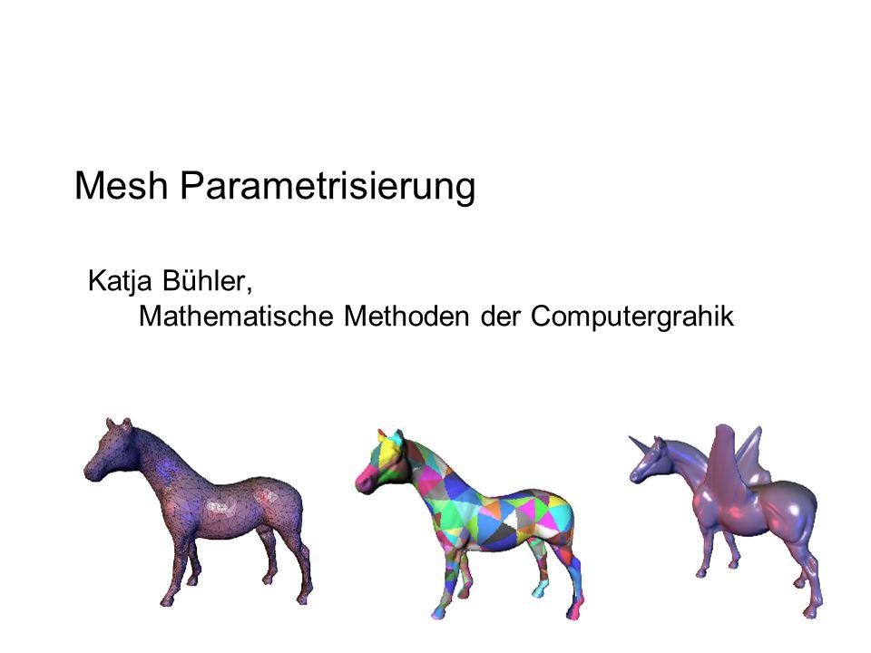 Mesh Parametrisierung Katja Bühler, Mathematische Methoden der Computergrahik