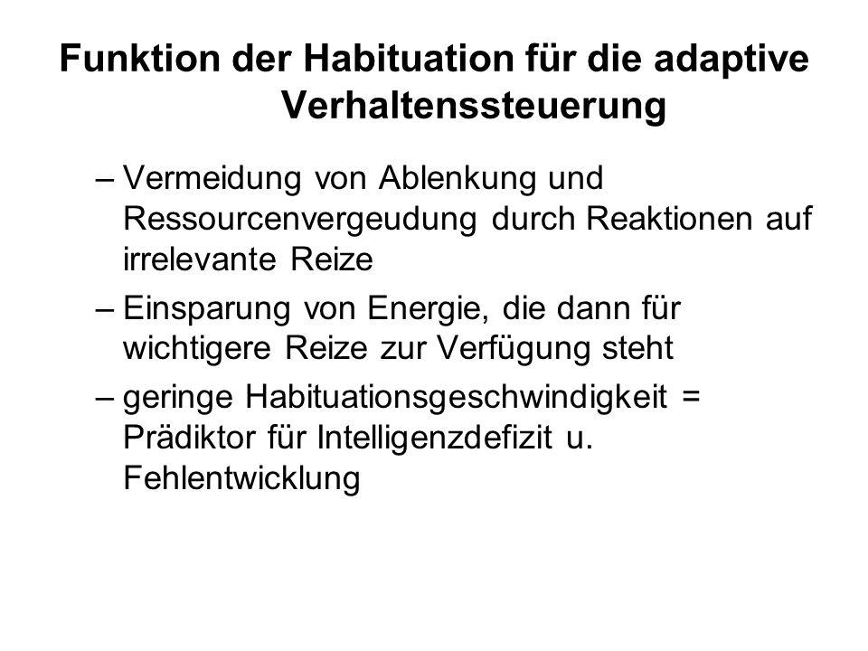 Funktion der Habituation für die adaptive Verhaltenssteuerung –Vermeidung von Ablenkung und Ressourcenvergeudung durch Reaktionen auf irrelevante Reiz