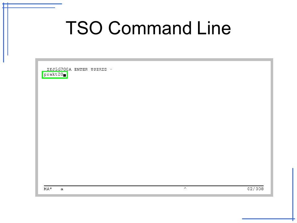 TSO Command Line