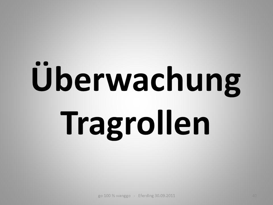 Überwachung Tragrollen go 100 % wanggo - Eferding 30.09.201140