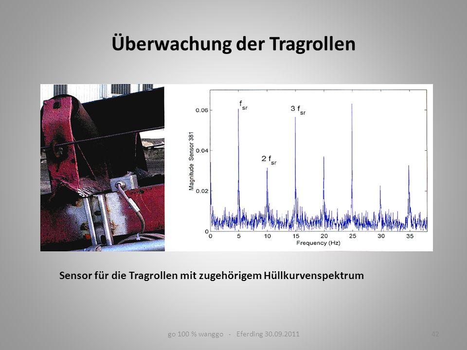 go 100 % wanggo - Eferding 30.09.201142 Sensor für die Tragrollen mit zugehörigem Hüllkurvenspektrum Überwachung der Tragrollen