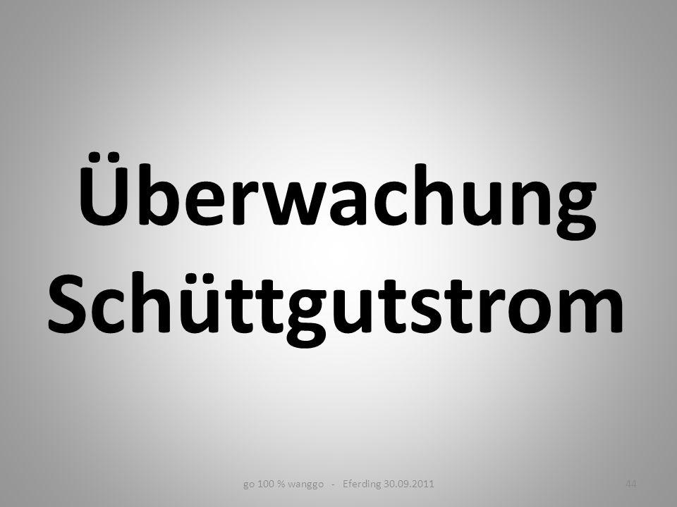 Überwachung Schüttgutstrom go 100 % wanggo - Eferding 30.09.201144