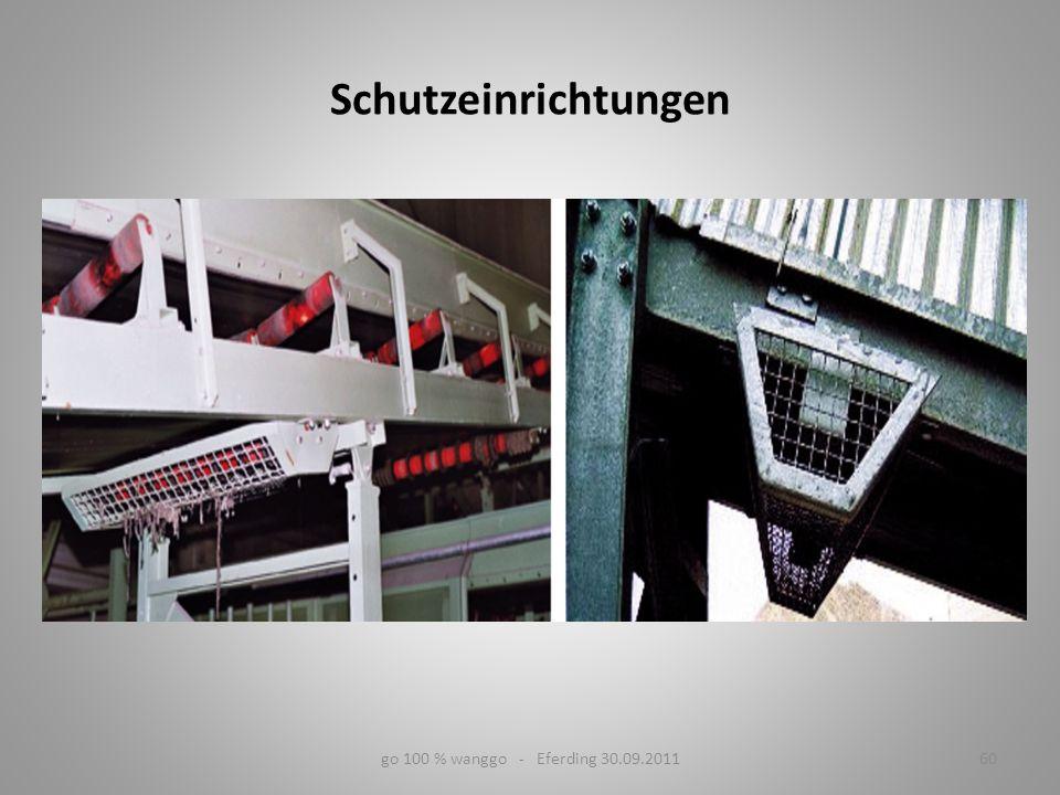 60go 100 % wanggo - Eferding 30.09.2011 Schutzeinrichtungen