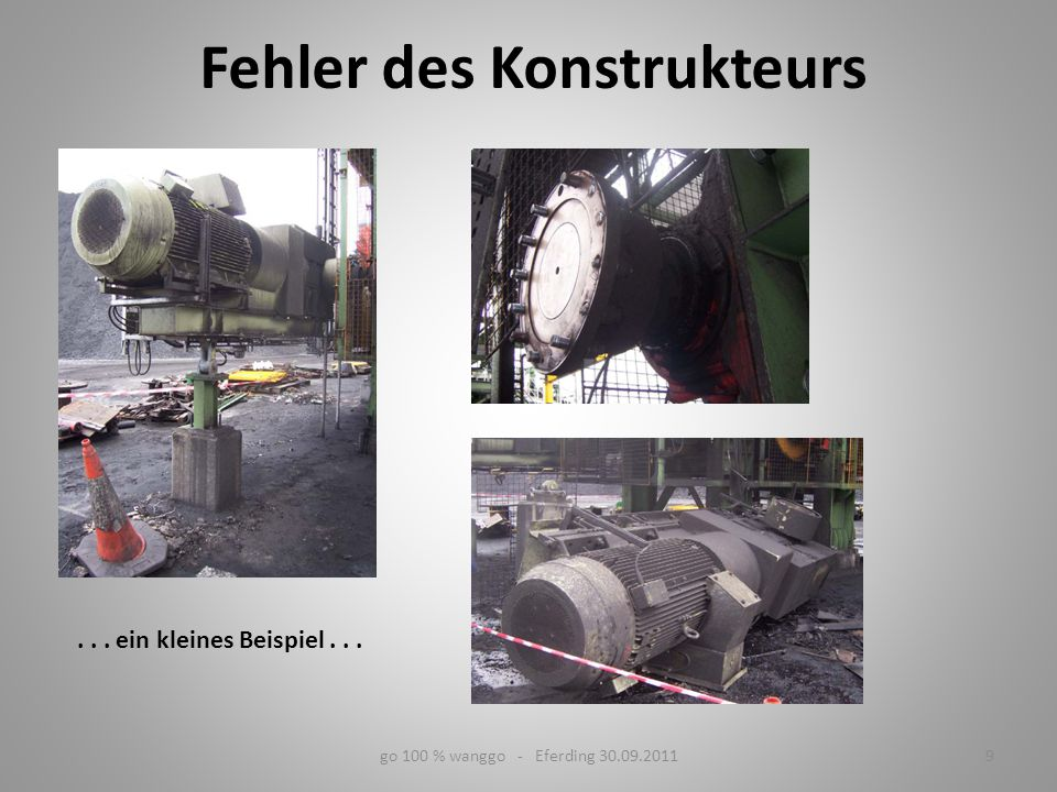 Üblicher Aufbau einer Fördergurtanlage 10go 100 % wanggo - Eferding 30.09.2011 Einzellängen bis 30 km Förderleistung bis 50.000 t/h Gurtbreiten über 3 m Fördergeschwindigkeit bis 9 m/s