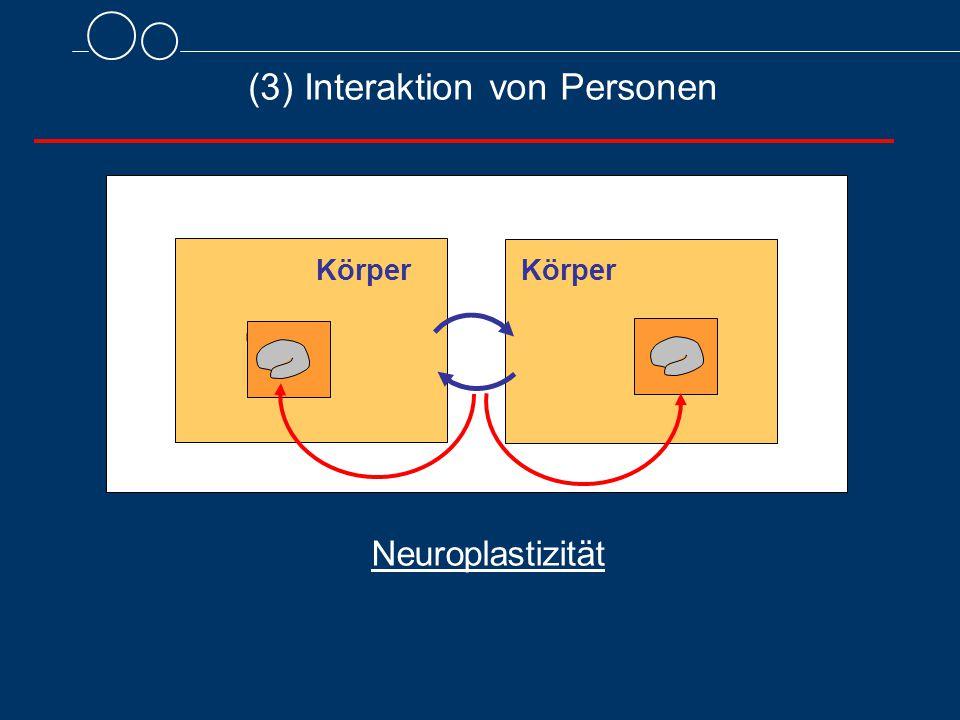(3) Interaktion von Personen Körper Neuroplastizität Körper