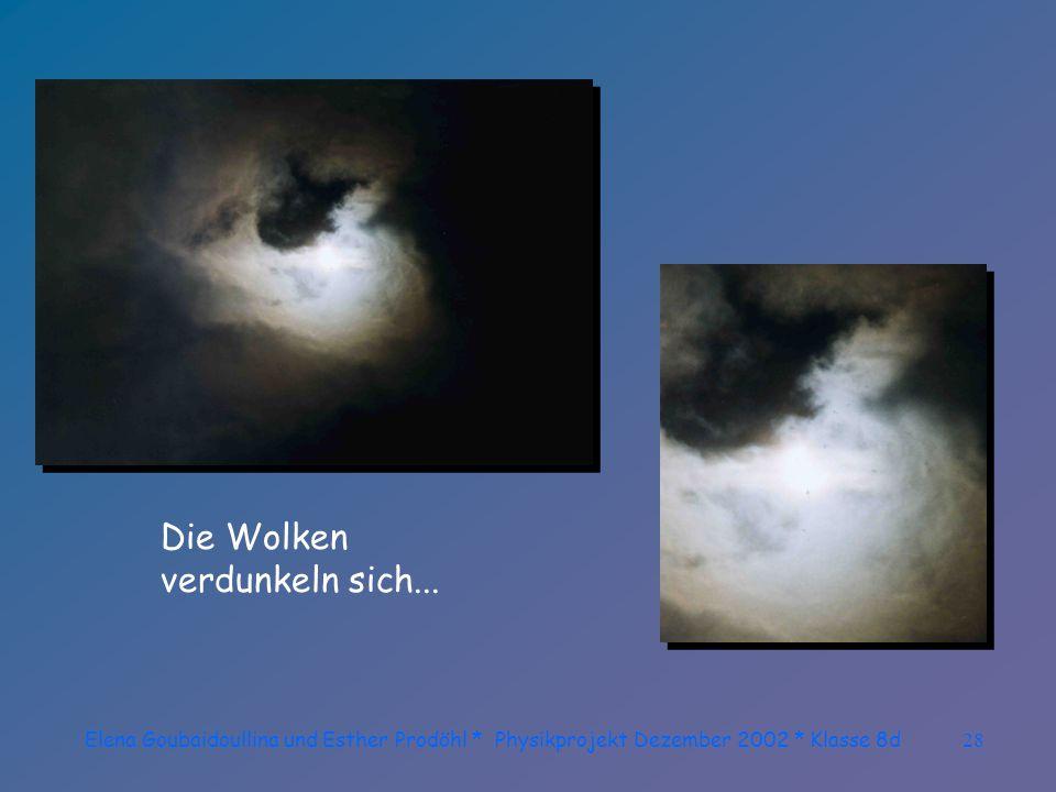 Elena Goubaidoullina und Esther Prodöhl * Physikprojekt Dezember 2002 * Klasse 8d27 Wunderbare Sichten tun sich auf.