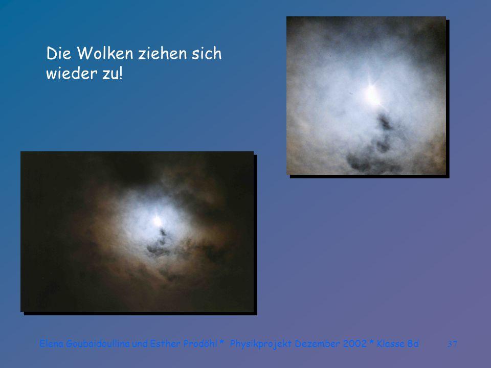 Elena Goubaidoullina und Esther Prodöhl * Physikprojekt Dezember 2002 * Klasse 8d36 Das letzte Leuchten...