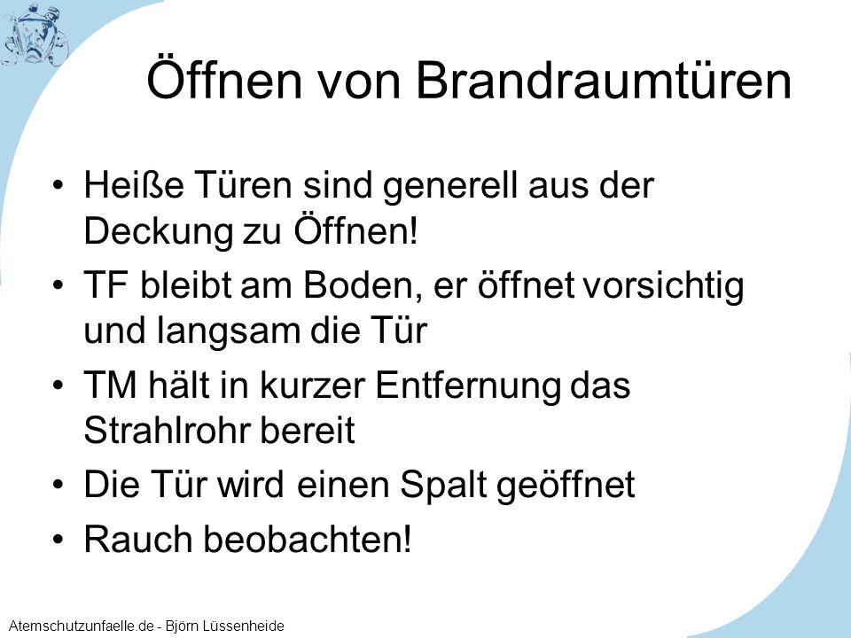 Atemschutzunfaelle.de - Björn Lüssenheide Start einer Suche mit Leine 2.
