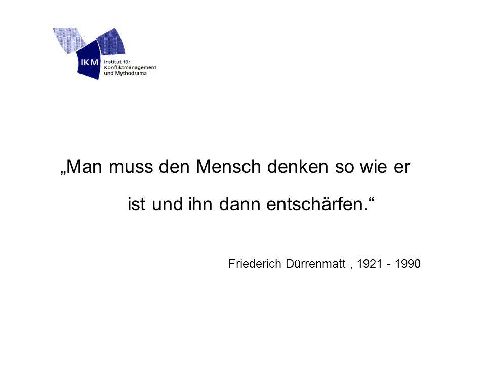 """""""Man muss den Mensch denken so wie er ist und ihn dann entschärfen. Friederich Dürrenmatt, 1921 - 1990"""