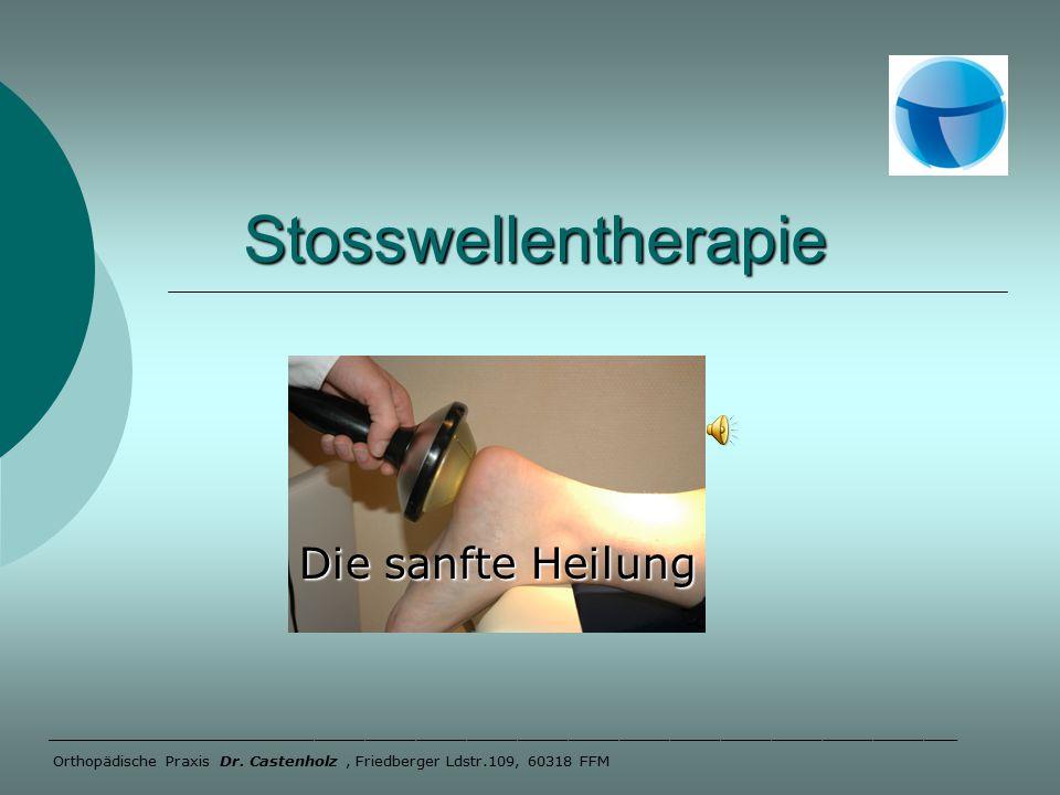 Stosswellentherapie Stosswellentherapie Die sanfte Heilung Das PiezoWave führt uns die nächste Generation der Stoßwellengeräte vor.