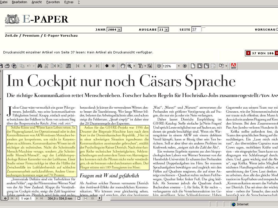 Wissensmanagement SS 2006 Informationslogistik - 37 Worzyk FH Anhalt