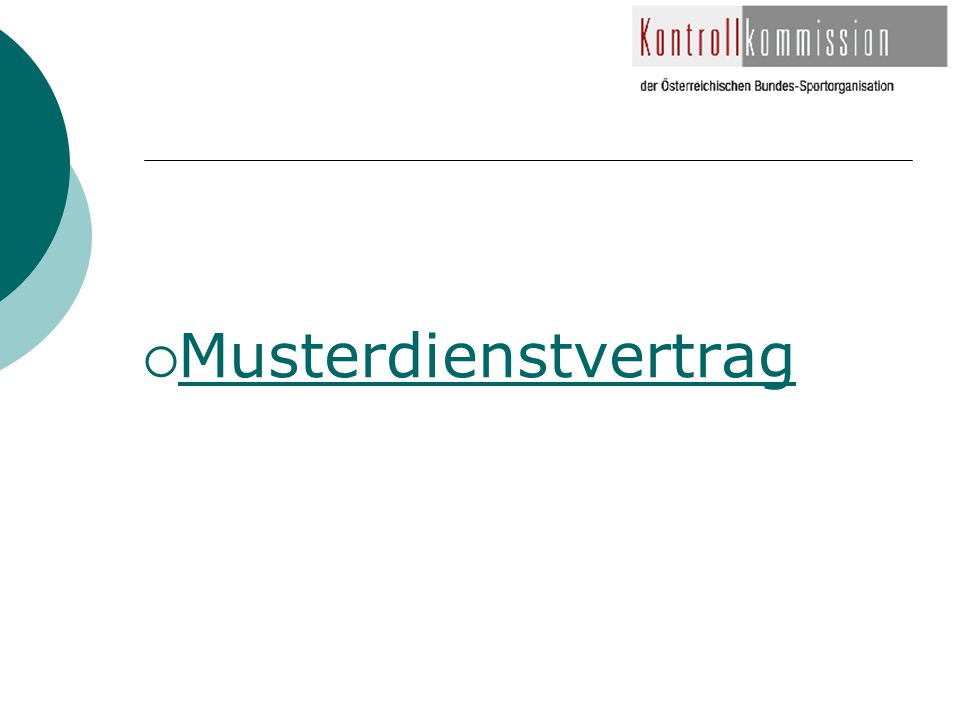  Musterdienstvertrag Musterdienstvertrag